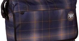 Chiemsee Umhängetasche Umhängetasche Shoulderbag Large, Schultertasche mit Laptopfach, in verschiedenen Farben erhältlich, Plaid Peacoat, 39 x 28 x 13 cm, 5070015 - 1