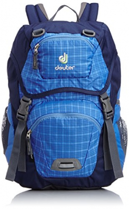 Deuter Kinder Rucksack, Coolblue Check, 43 x 24 x 19 cm, 18 Liter, 3602930140 - 1