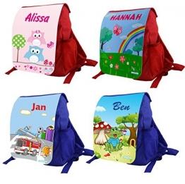 Kindergartenrucksack Variant mit bedruckter Frontlasche mit eigenen Namen & Wunschmotiv - 1