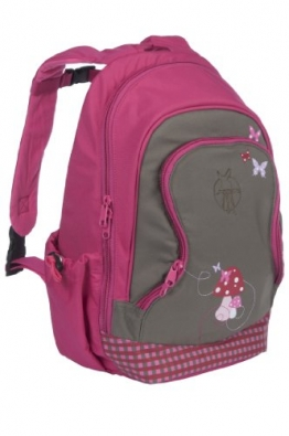 Lässig LMBPB128 - Kinderrucksack groß Mini Backpack Big Mushroom, magenta - 1