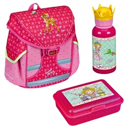 Spiegelburg Mini-Ranzen Prinzessin Lillifee 3tlg. Set mit Alu-Trinkflasche und Brotdose z.B. für den Kindergarten CPL11965 - 1
